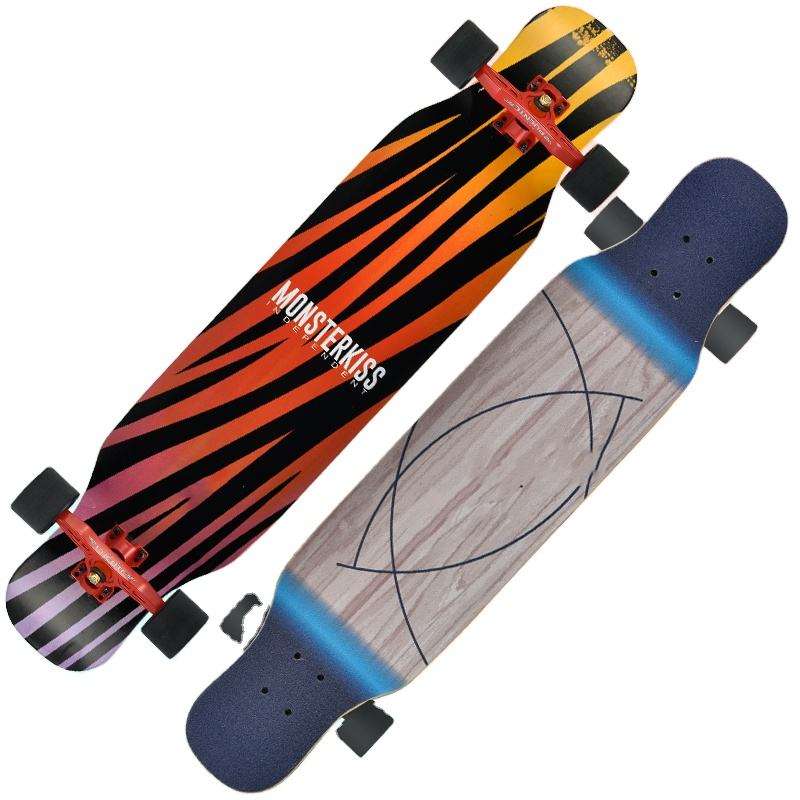 Long Board Longboard Skateboard Double Up Brush Street Wood Skate Board For Adult And Youngster Skate Board Bearings ABEC-11