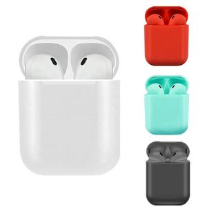 Free Shipping i12 HIFI TWS Stereo BT 5.0 Waterproof Ear Buds Color Wireless Earbuds Headset with Charging Case