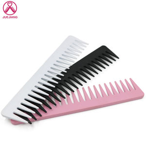 Professional Hairdressing Salon Carbon Fiber Plastic Anti-static Wide Big Tooth Detangling Hair Comb
