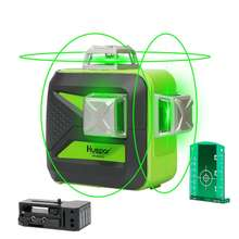 HUEPAR Self-leveling Laser 603CG ,Multi Outdoor pulse mode 3*360 Alignment 12 Line linelaserlevel, Green 3D Laser Level