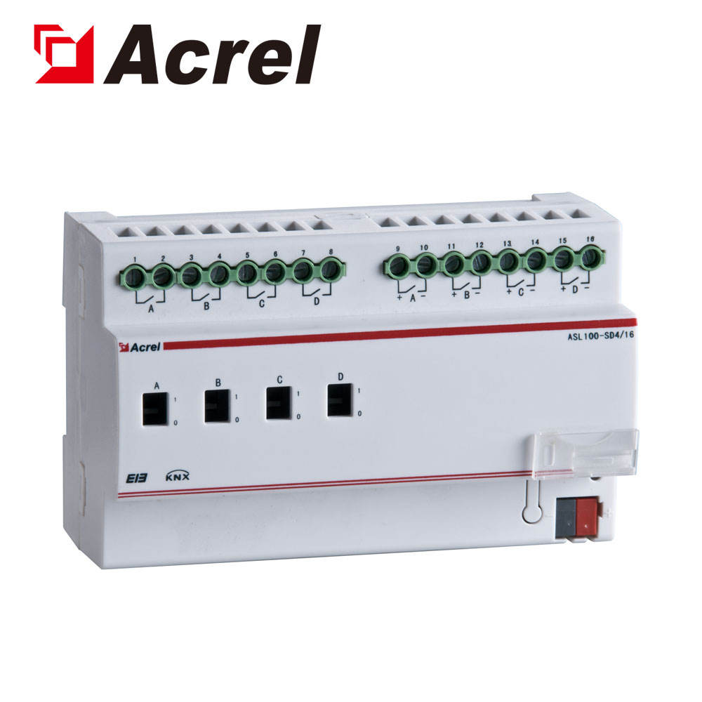 Bridges and tunnels 2 dimming circuits control 0-10V dimming module ASL100-SD4/16 Acrel 300286.SZ