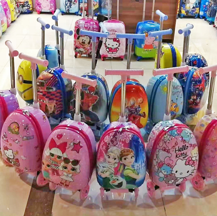 Cartoon anime train hard shell 19 inch children's trolley case men and women baby student trolley bag a generation