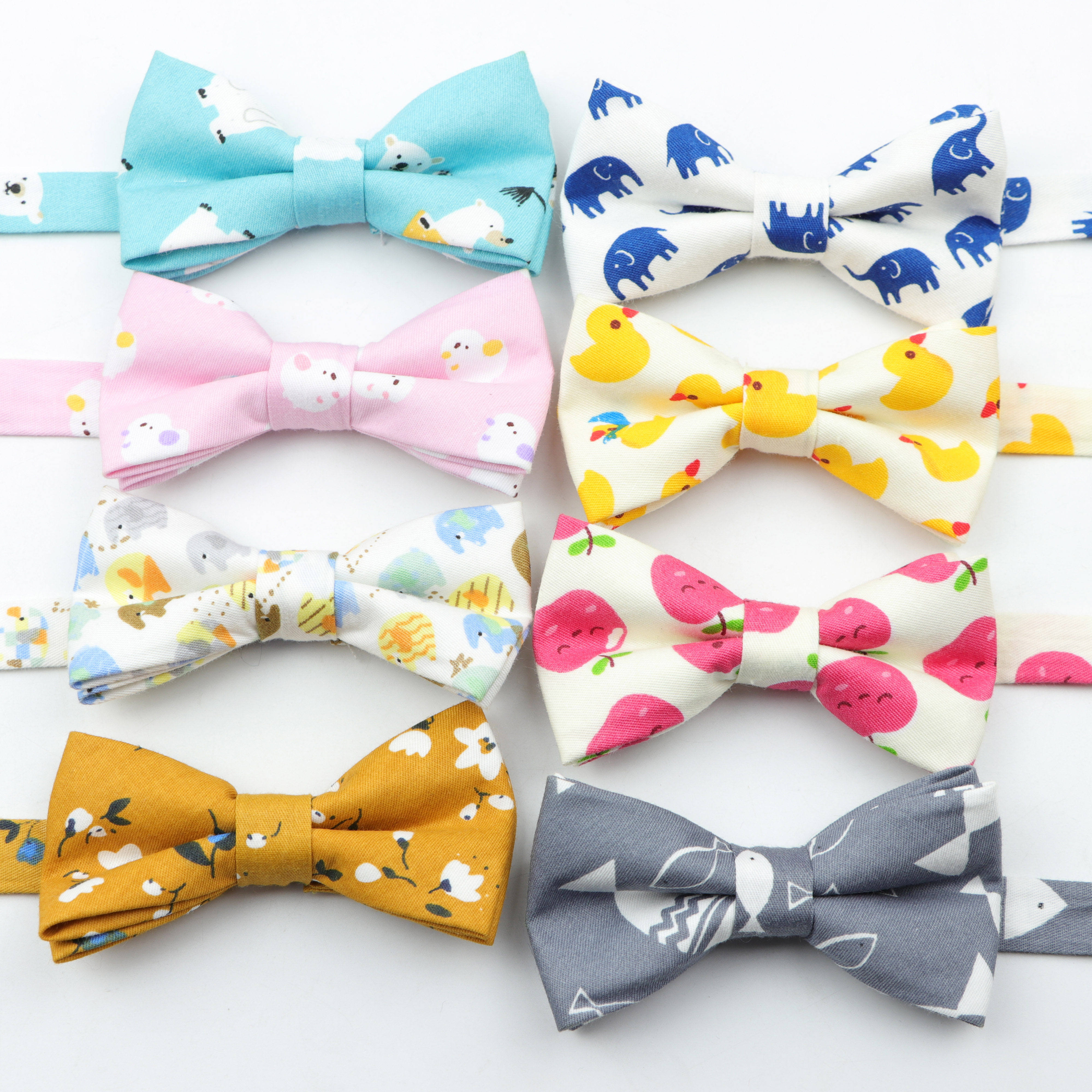 Classic Kid Suit Bow ties Boy's Baby Butterfly Fashion Cotton Adjustable Bowtie Children Two Tone Pet Dog Cat Bow Tie