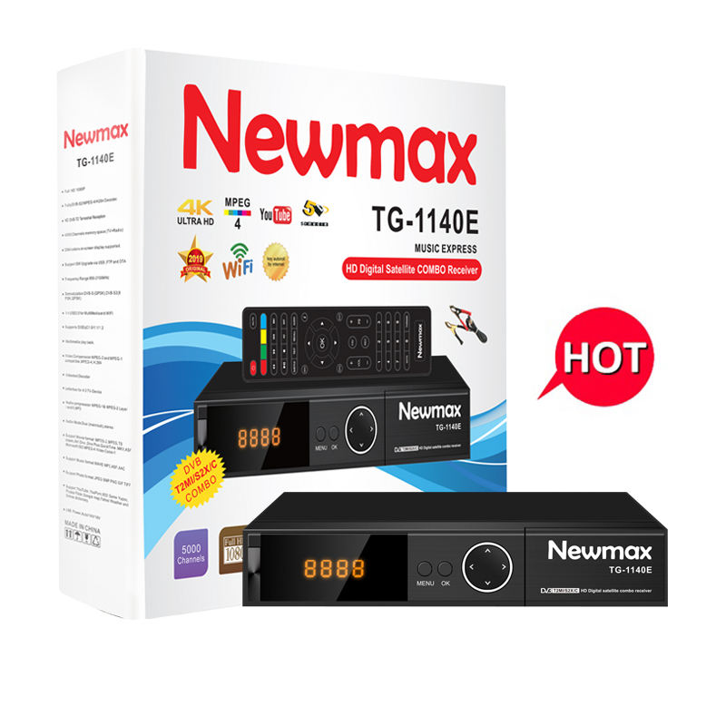 Hot Selling Newmax TG-1140E Full HD 1080P Decoder COMBO DVB T2 S2 set top box receiver