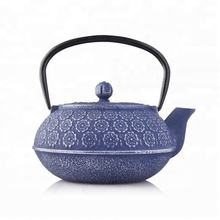 Hot selling cherry blossom pattern enameled cast iron teapot