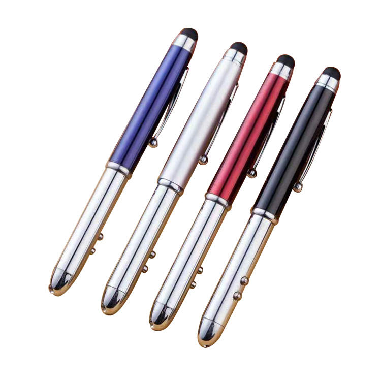 Multifunction 4で1 Ballpoint Pen Metal Laser Pointer With Smart Stylus