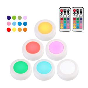 Battery Operated LED Lighting Remote Control 12 Color RGB Closet night Lights FLASH/STROBE/FADE/SMOOTH Mode for Closet/Showcase