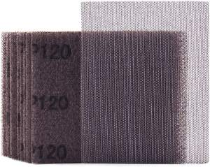 Sheet Sandpaper Sheets Premium Quality 120 Grit Mesh Sheet Sandpaper Hook Loop Or Clip On 5.5
