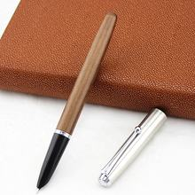 mq-604 Wholesale Promotional Custom Logo Luxury 0.38 nibs Wooden Fountain Pen gift set calligraphy writing wood pen