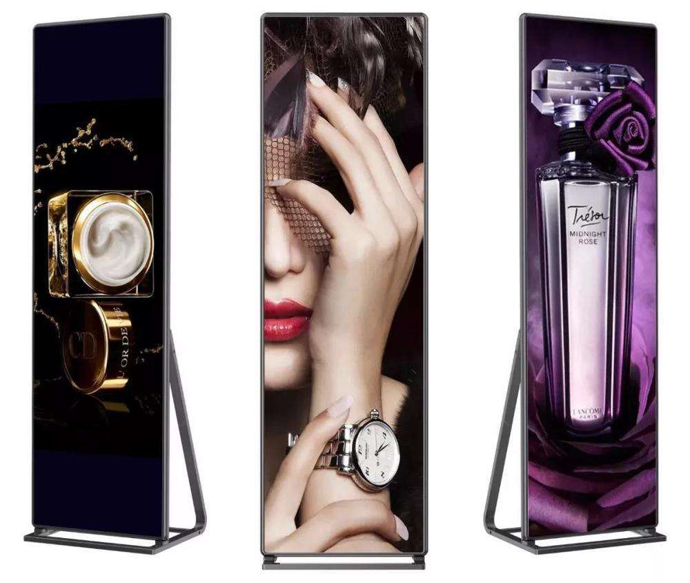 indoor mirror led screen display p4 advertise banner