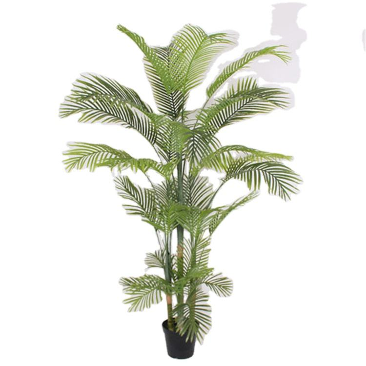 Factory direct decorative indoor 2.3 m 4 branches artificial geranium recyclable plastic artificial palm tree