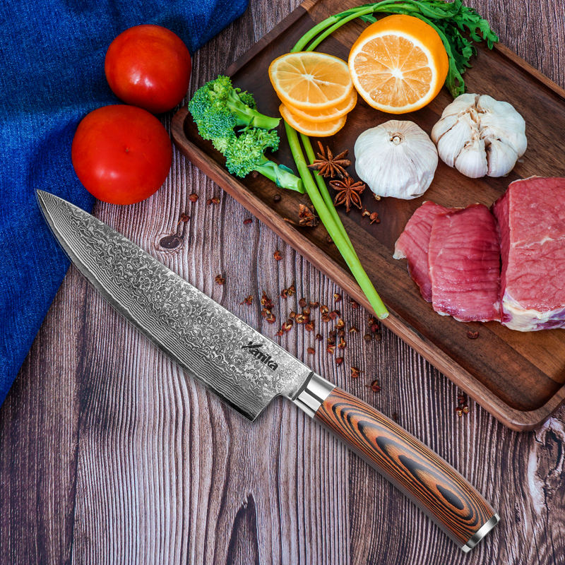2020 Damascus Kitchen Knife Wholesale Made in China