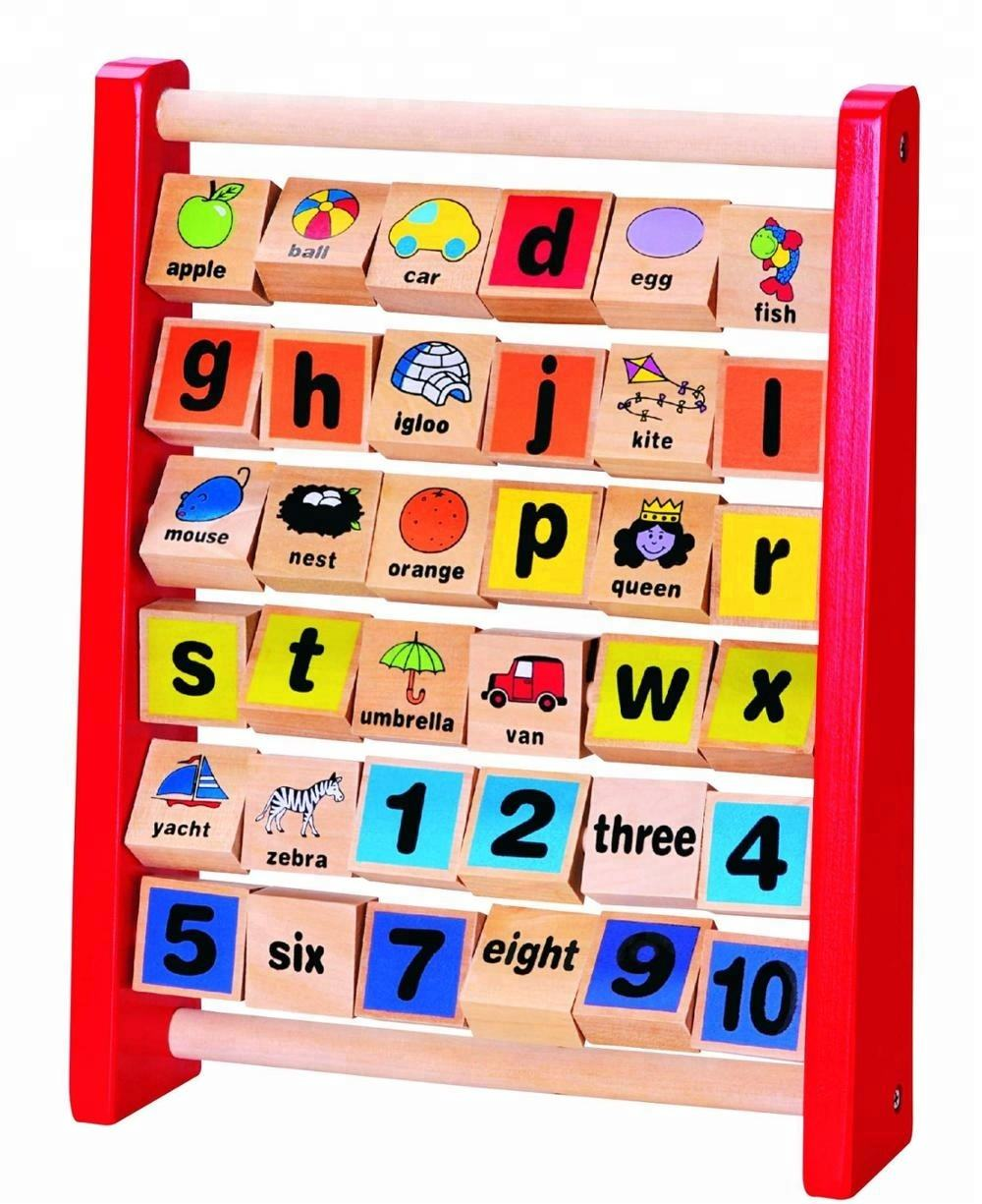 Lead Free Traditional Alphabet Abacus Wooden Educational Toy