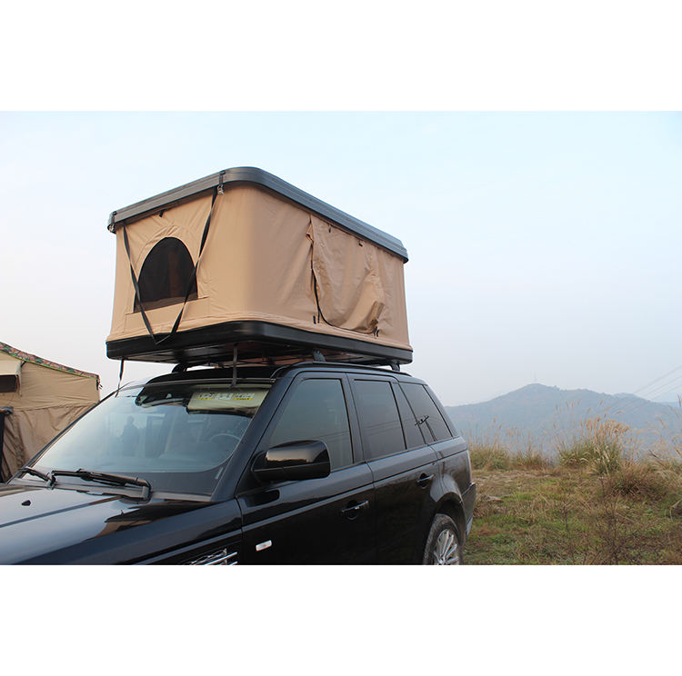 Hot Sale 4X4 SUV Hard Shell Roof Top Tenda dengan Rak 2 Orang Empat <span class=keywords><strong>Musim</strong></span>