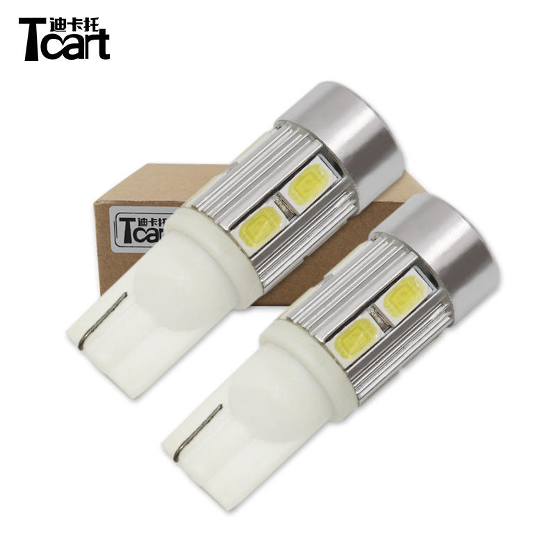 Tcart Auto Beleuchtungs system <span class=keywords><strong>W5W</strong></span> 194 5630 10smd mit Linse 5w 6500k 450LM weiß gelb rot Lese lampe Auto 12v <span class=keywords><strong>t10</strong></span> LED Auto Glühbirne