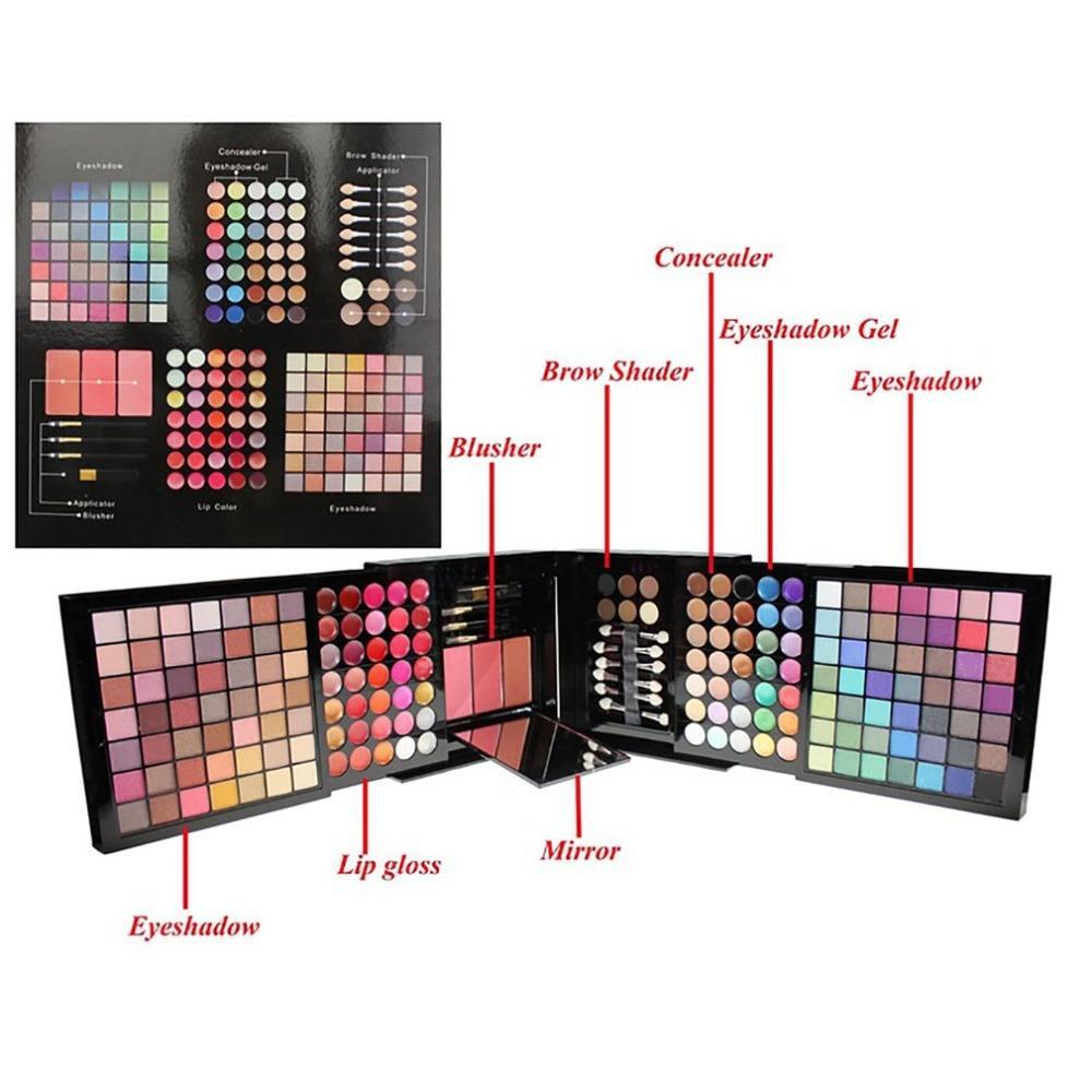 Großhandel 177 Farbe Lidschatten Make-Up Palette Set Profi Lip Gloss Sammlung Make-Up Kit Matte Lidschatten Gesicht Foundation