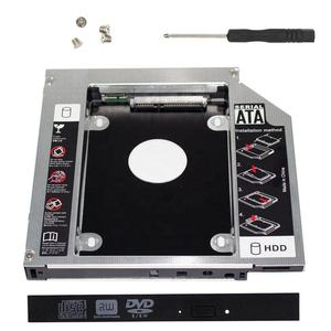 Very Hot Sale 12.7mm Aluminum SATA 3.0 CD DVD Driver 2nd Hard Drive SSD HDD Caddy