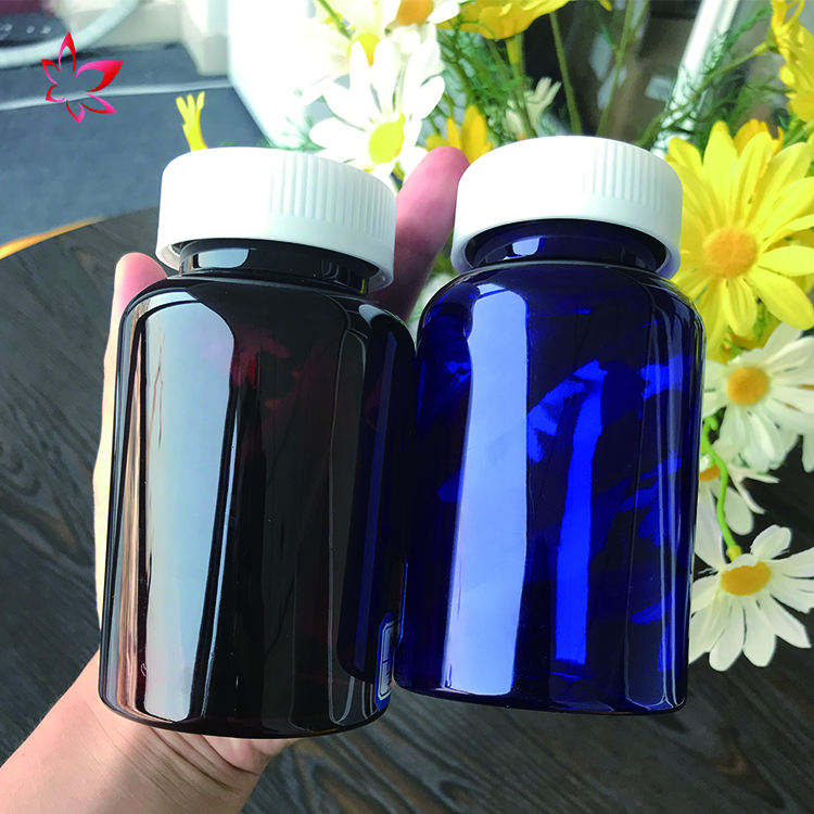 Capsule plastic pill bottles square pet bottle