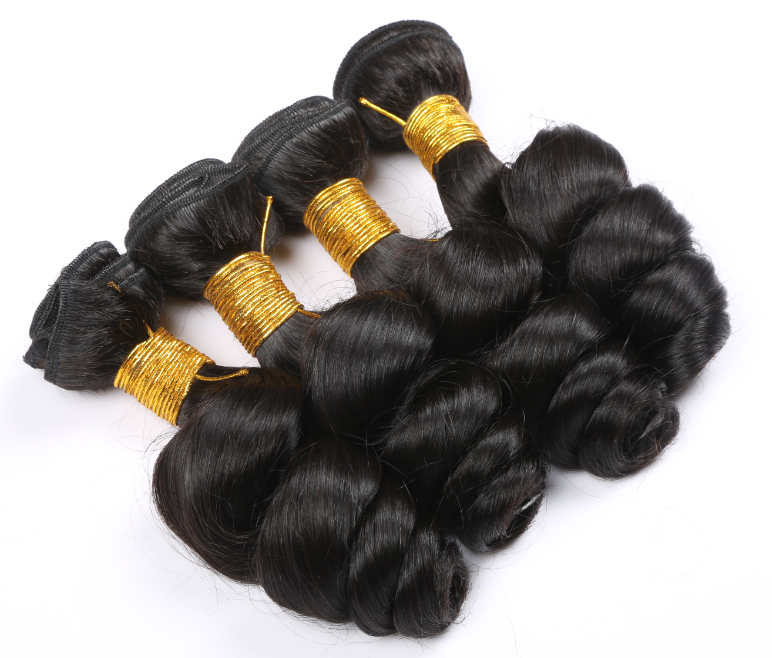 Qingdao Hair Vendors Peruvian Virgin Human Hair Weave Bundle With Lace Closure Natural Hair Line