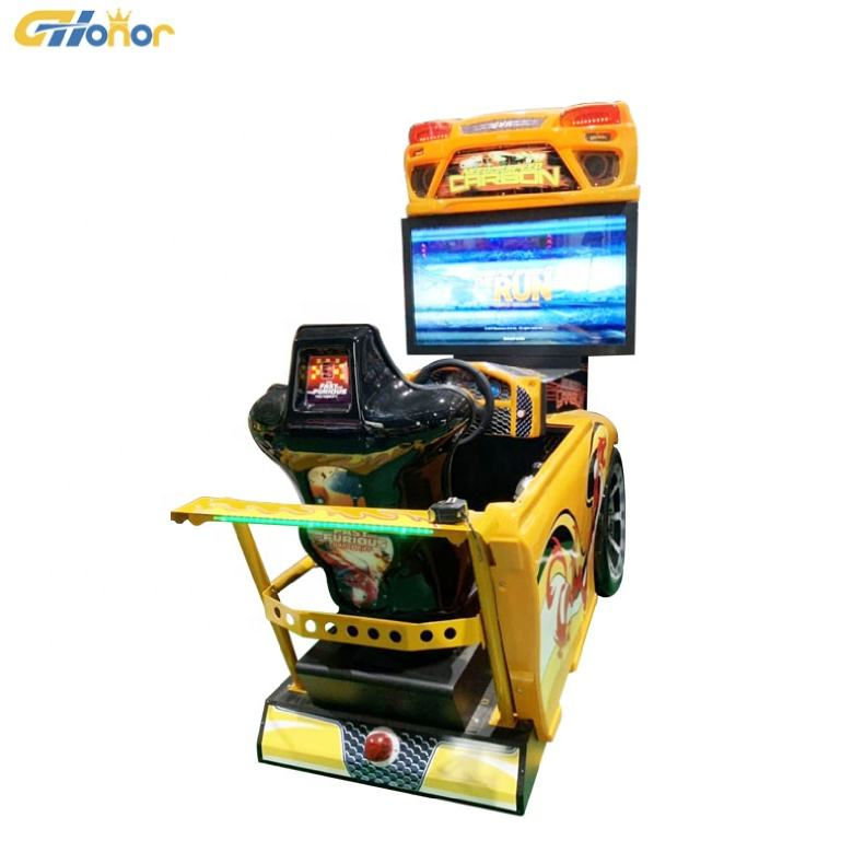 42 Inch Screen Indoor Coin Operated Need For Speed Arcade Car Racing Simulator Game