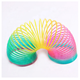 Rainbow Fashion Toys Child Colorful Rainbow Circle Folding Plastic Spring Coil Toy For Children's Creative Educational Toys