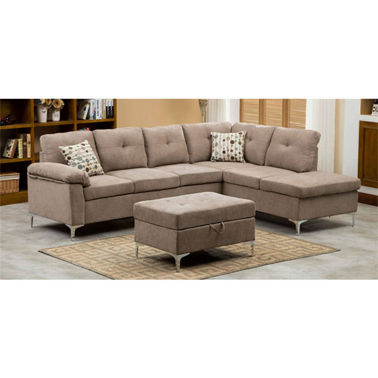China Goods Import U Shaped l Sofa Modern Brown Sectional Couches