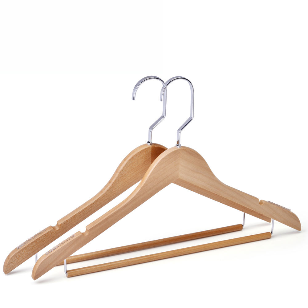 custom dress wooden clothes hangers for clothing hanger in natural