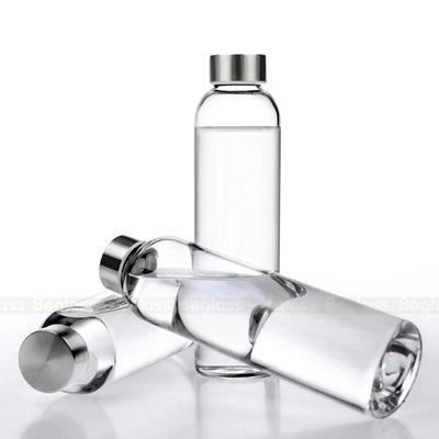 Hot selling go anyware reusable water borosilicate glass water bottles 1000ml