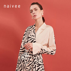Naivee summer luxury fashion sexy casual long sleeve office party t shirt dress for women ladies