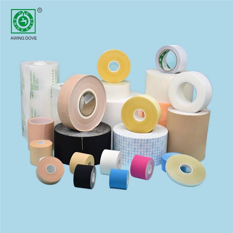 Özel yumuşak elastik nefes pamuklu kumaş yapışkanlı spor bandaj
