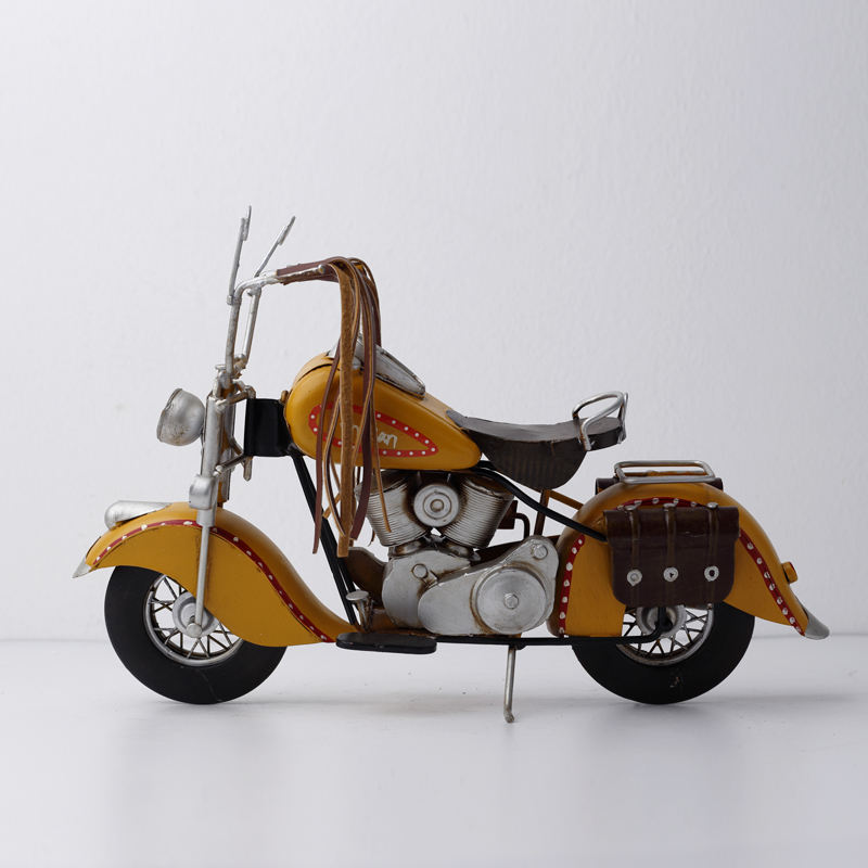 Metal Crafts Old Retro Motorcycle Model Antique
