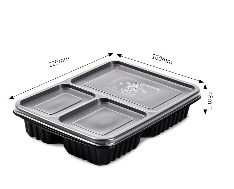Wegwerp clear plastic take-out box en transparante deksel