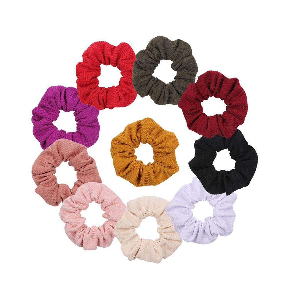 Bullet Fabric Scrunchie 2019 New Arrival Solid Color Elastic Women&Girl Hair Accessories Headband Headwear Custom