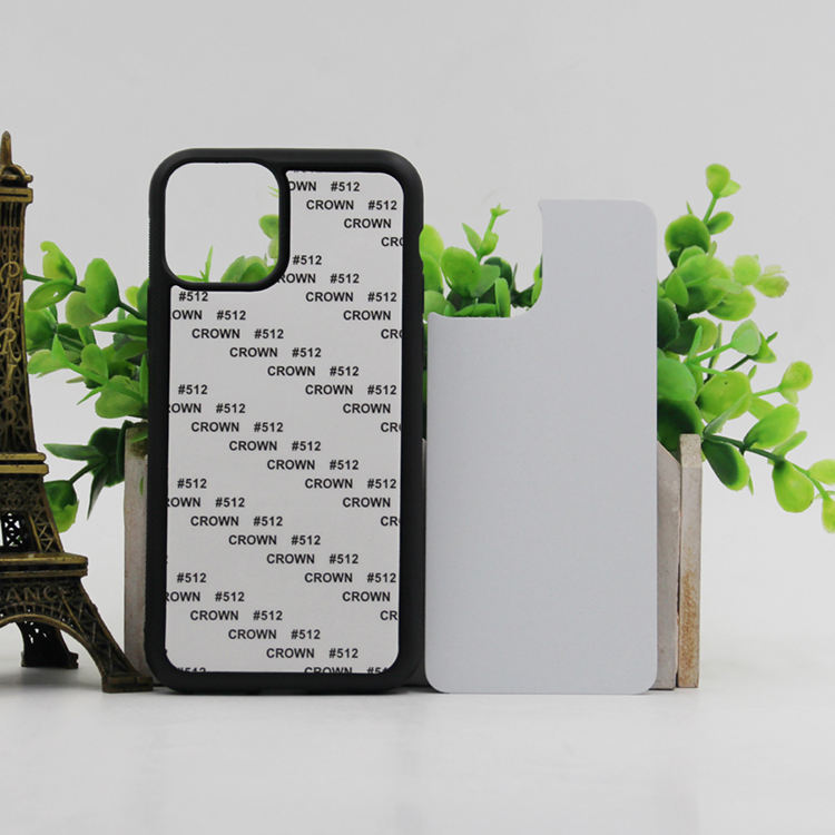 Factory Direct Sample Free 2D PC Sublimation With Metal Sheet Phone Case For iPhone 11 Black Plastic Sublimation Case