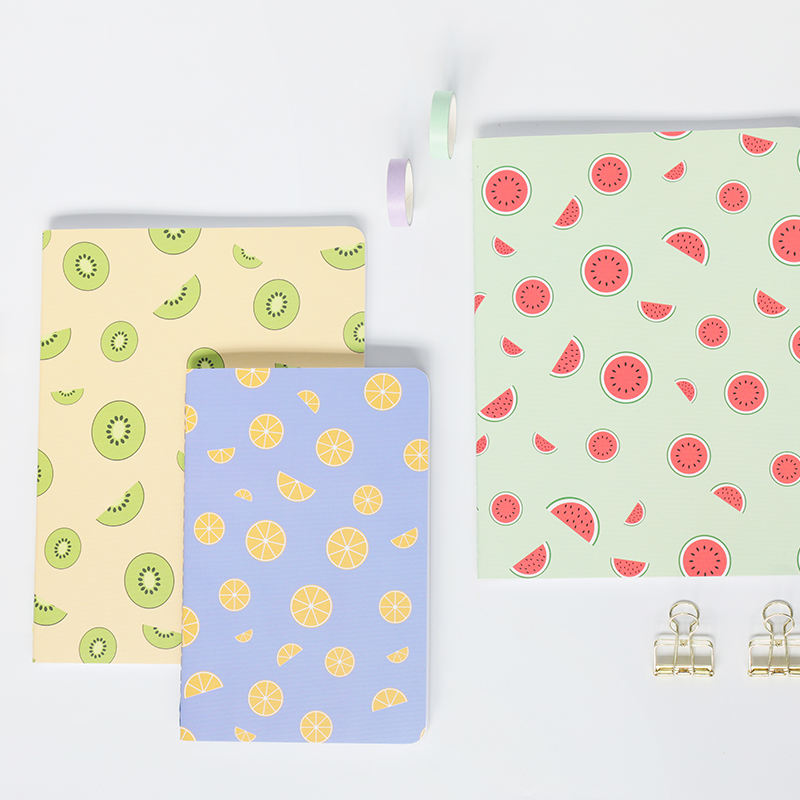 A5 Colorful Fruits Stationery Cow Thread Sewing Cheap Notebook