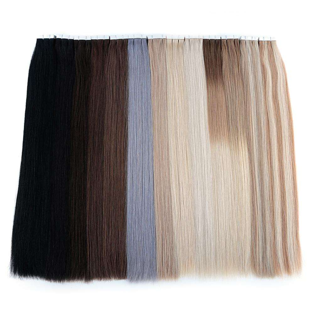Neitsi Wholesale Cheap European 100% virgin human hair extensions in dubai double sided remy cuticle tape hair