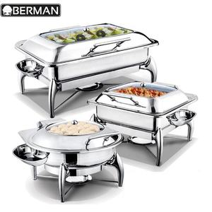 Hotel restaurant cooking glass in india high quality stainless steel food warmer wire chafer heaters for buffets