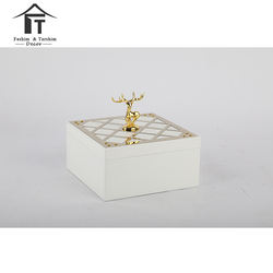 Gold decorative jewellery wedding box wholesale