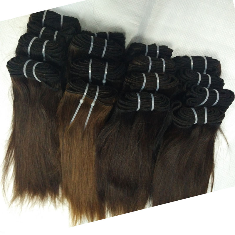 Letsfly 20pcs hair cheap natural color Brazilian Straight Virgin Hair 100% raw Unprocessed Human Hair Weave extension
