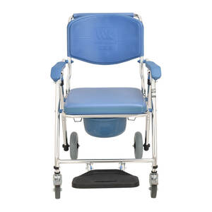 Multi-funcional Transporte Chuveiro Handicap Manual Folding Commode Cadeira De Rodas Para Idosos