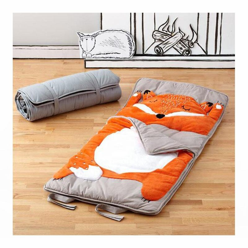 Animal design Luxury pillowcase bedding 100% cotton fox sleeping bag for kids