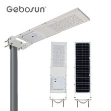 GEBOSUN New Brightest All In One Solar Lighting Smart 15watt 30watt Led Solar Street Lighting