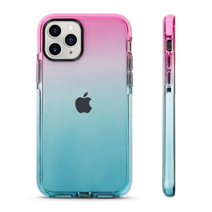 for iPhone X XS Rainbow Impact Case TPU TPE Bumper Transparent Rainbow Colored Case for iPhone 11 Cases