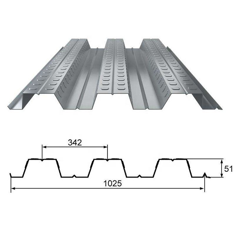 1025 Metal Floor Decking Sheet Hot Dip Galvanized Corrugated Steel Deck Plate
