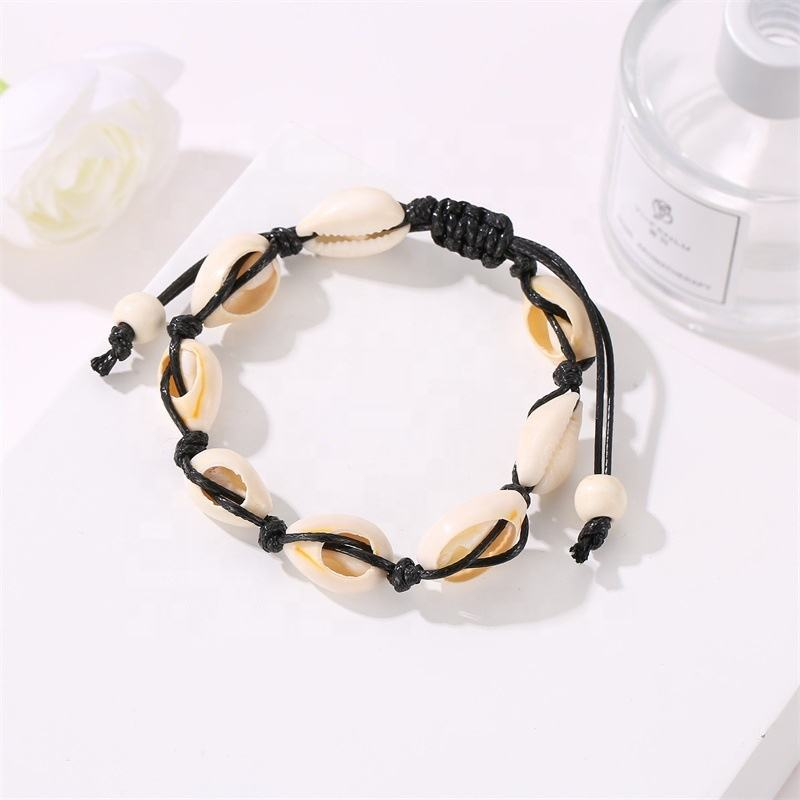 National Wind Braids Adorn Article Originality Hawaiian Amorous Feelings Recreational Bracelet Natural Shell Anklet