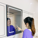 Hot sale bathroom touch mirror led smart mirror glass with touch screen mirror