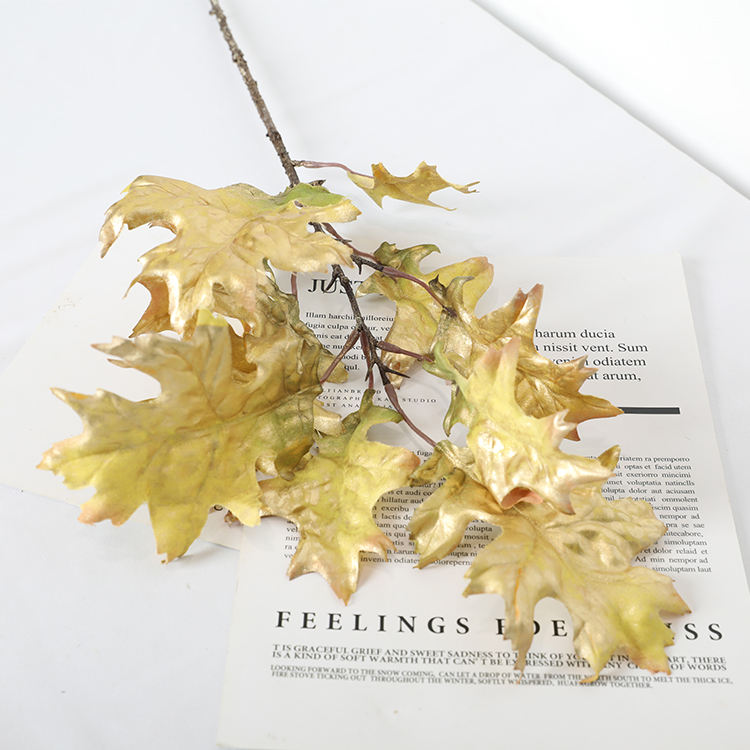 QH164-0221D high quality Artificial Plant Christmas Leaf artificial oak tree branches and leaves for home Garden decoration