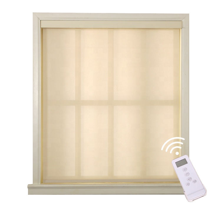 Hot sunscreen 5% openness electric cordless blinds motorized roller blind shades