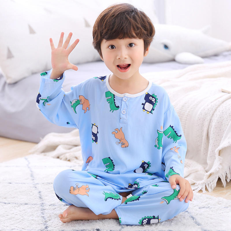 Kids Dinosaur Pajamas For Boys Girls Summer Children's Pajamas Sets Child Short Pyjamas Boys Cotton Pijamas Home Wear