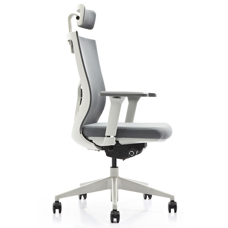 HUASHI Mesh Swivel Lift Office Chairs Modern Grey Chair Ergonomic Office Furniture With Headrest
